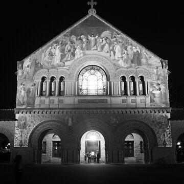 Stanford Memorial Church at Night. Palo Alto, California by IgorPozdnyakov