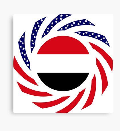 Yemeni American Multinational Patriot Flag Series Canvas Print