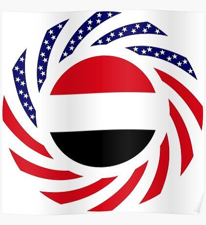 Yemeni American Multinational Patriot Flag Series Poster