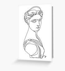Artemis One Line Greeting Card