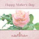 Mother's Day Rose Blossom Card by jmgreenartworks