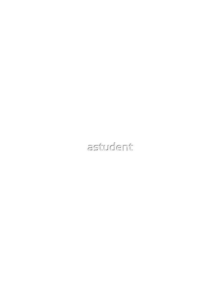 Blanco clásico llano de astudent