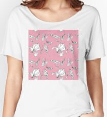 Delicate pink iris graphics Women's Relaxed Fit T-Shirt