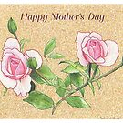 Mother's Day Rose and Buds Card by jmgreenartworks