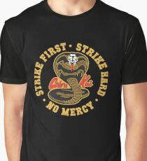 Cobra kai - Strike First - Strike Hard - No Mercy HD Logo Graphic T-Shirt