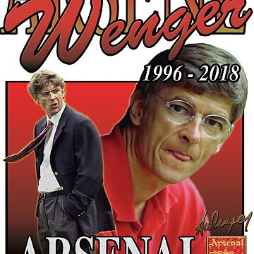 ARSENE WENGER ARSENAL 1996-2018 VINTAGE TSHIRT by andrewtodos
