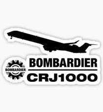 Bombardier CRJ1000 - Silhouette (Black) Sticker