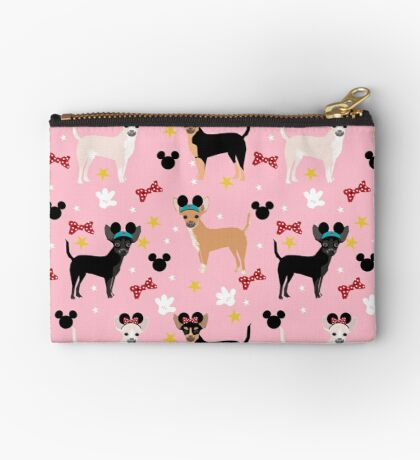 chihuahua theme park lover dog breed pattern gifts Zipper Pouch
