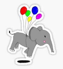 Elephant in the air Sticker