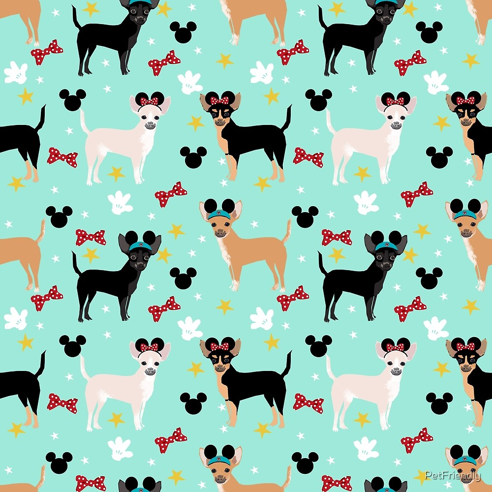 chihuahua theme park lover dog breed pattern gifts by PetFriendly