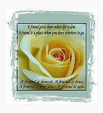 Yellow Rose of Friendship Photographic Print