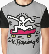 KEITH HARING - SKATE POP ART Graphic T-Shirt