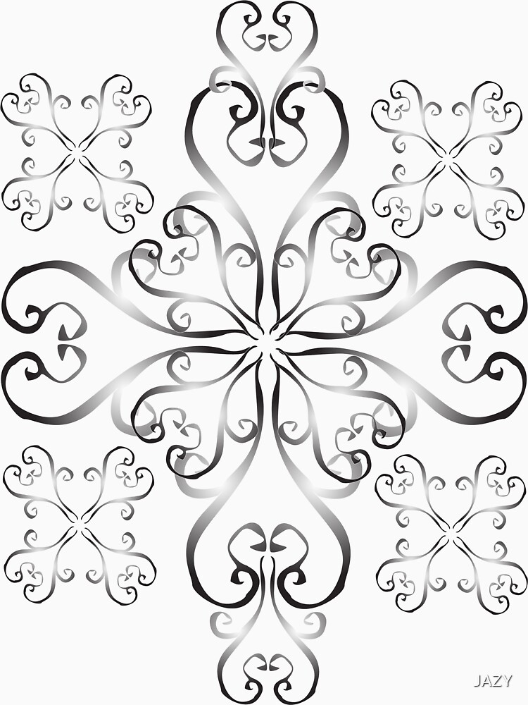 Black and White Swirl Pattern by JAZY