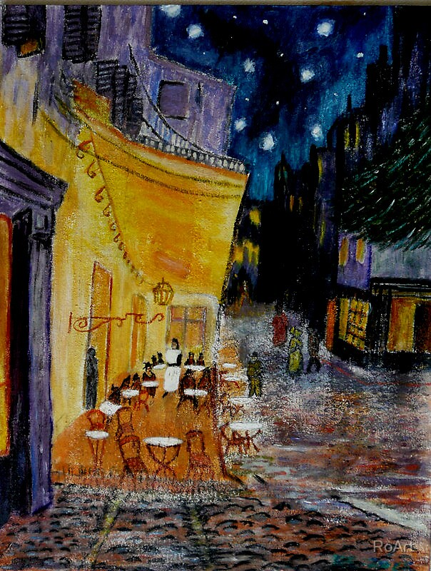 The cafe at night2 by RoArt
