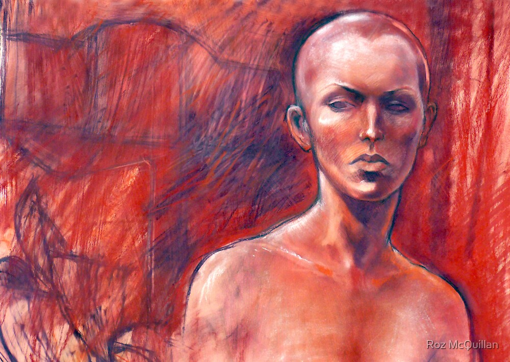 Portrait of a Girl with Shaved head by Roz McQuillan