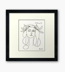 Picasso Sketch Framed Print