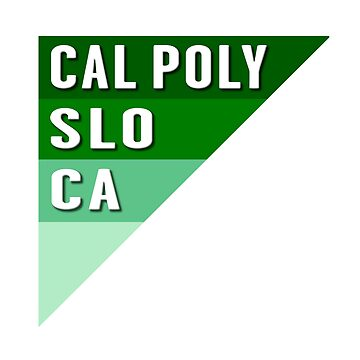 Cal Poly SLO Graphic Triangle by MomMcWin