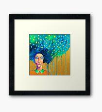 Dripping Hair Framed Print