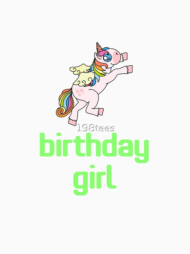 Awesome Unicorn Birthday Girl Design #10 by 198tees