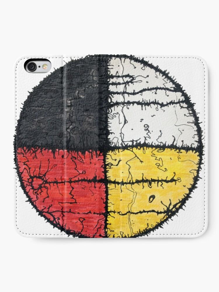 Alternate view of Four Colors mandala iPhone Wallet
