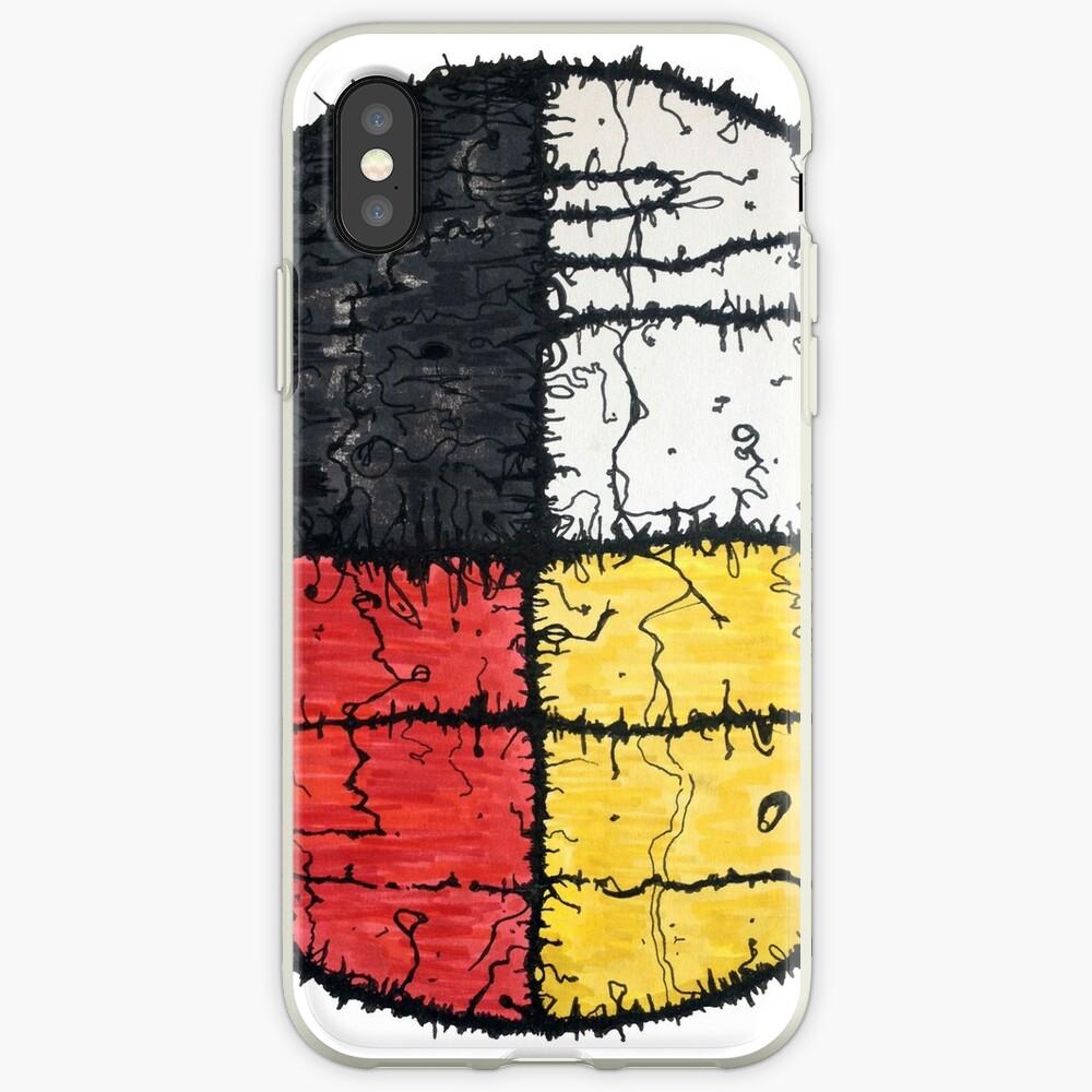 Four Colors mandala iPhone Case & Cover