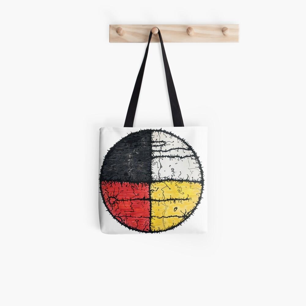 Four Colors mandala Tote Bag