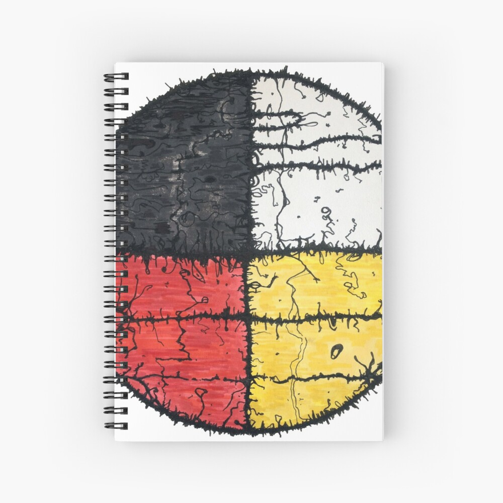 Four Colors mandala Spiral Notebook