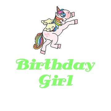 Awesome Unicorn Birthday Girl Design #11 by 198tees