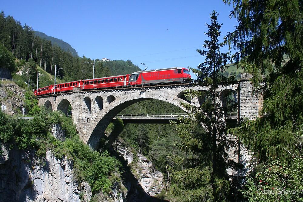 Glacier Express, Switzerland by Cathy Grieve