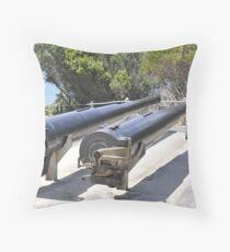 Gun Barrels Throw Pillow