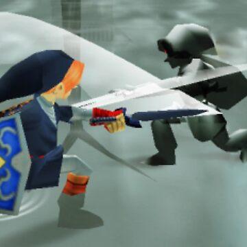 Zelda ocarina of time link vs dark link  by Rosewater-Gauze