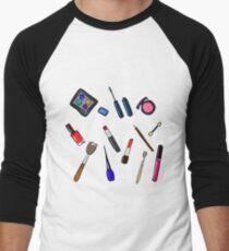 Cosmetics hand drawn illustration   Men's Baseball ¾ T-Shirt