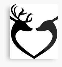 I Love You My Deer Metal Print
