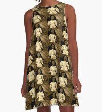 Sepia Doll and Tea A-Line Dress