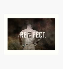 New York Yankee Derek Jeter Respect Print Art Print