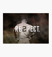 New York Yankee Derek Jeter Respect Print Photographic Print