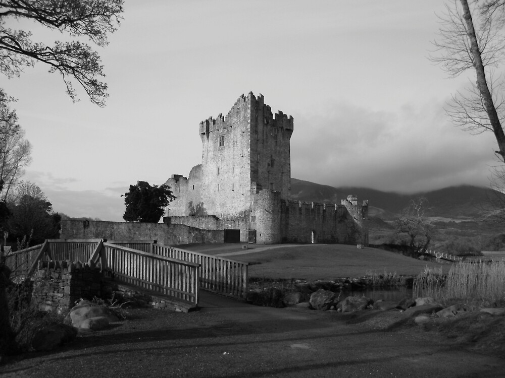 Ross Castle black and white by John Quinn