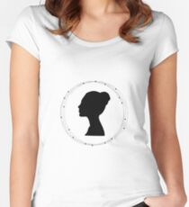 Women's face silhouette  Women's Fitted Scoop T-Shirt
