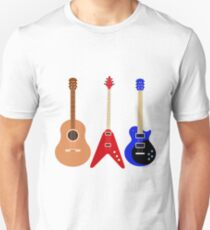 Guitars set illustration  Unisex T-Shirt