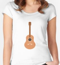 Guitar illustartion  Women's Fitted Scoop T-Shirt