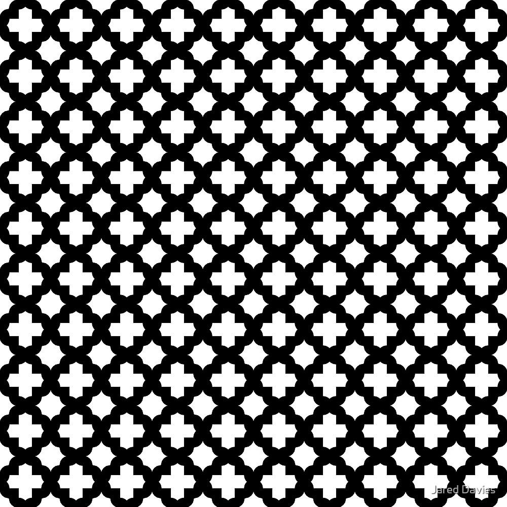 Black: Quatrefoil Stars & Crosses Pattern by MilitaryCandA