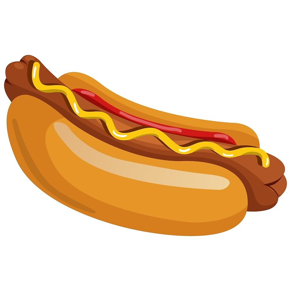 Hot dog illustration  by KiraBalan