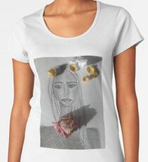 A Girl With Dry Flowers Women's Premium T-Shirt