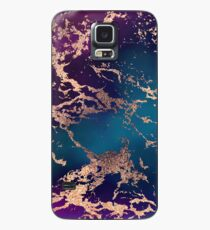 Jewel Tone Rose Gold Marble | Turquoise Blue and Purple Case/Skin for Samsung Galaxy