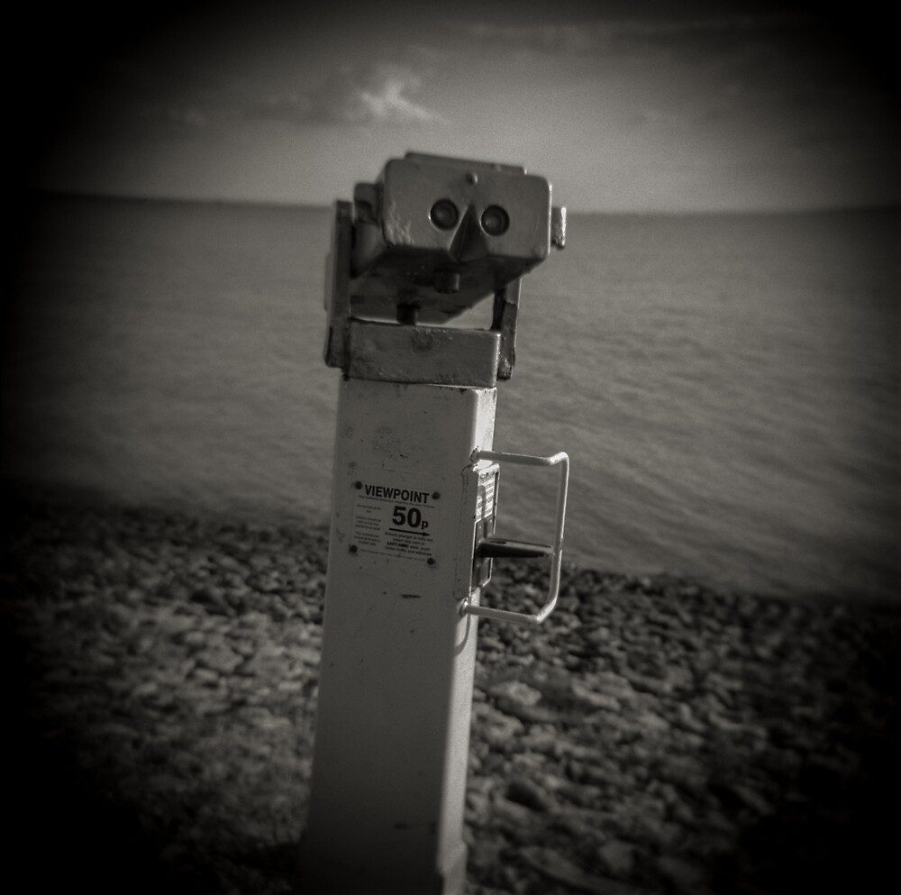 Fine Art Photograph Made With Toy Camera - Leigh on Sea, Coastal Image, England by Christopher Ball