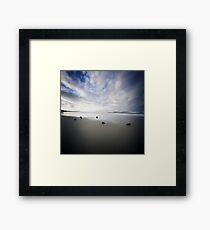 Fingal Beach Pinhole Framed Print
