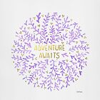 Adventure Awaits - Lavender & Gold by zephyrra