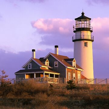 Highland Light Lighthouse - Pastel Clouds by WigOutlet