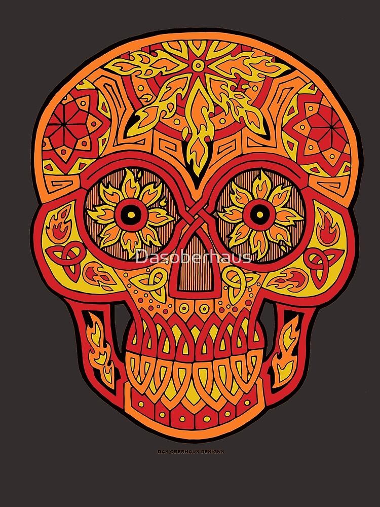 Funky Flame Skull by Dasoberhaus