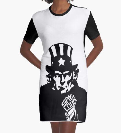 SAY IT LOUD: Uncle Sam Graphic T-Shirt Dress